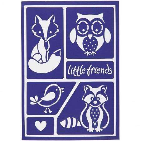 Pochoir Petits amis de la forêt adhésif