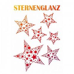 Pochoir A4 souple étoiles dans étoiles noël féérique