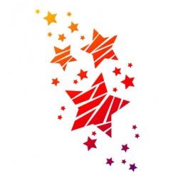 Pochoir A4 flexible étoiles noël