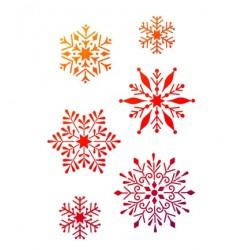 Pochoir A4 flocons de neige utilisable à l'unité noël