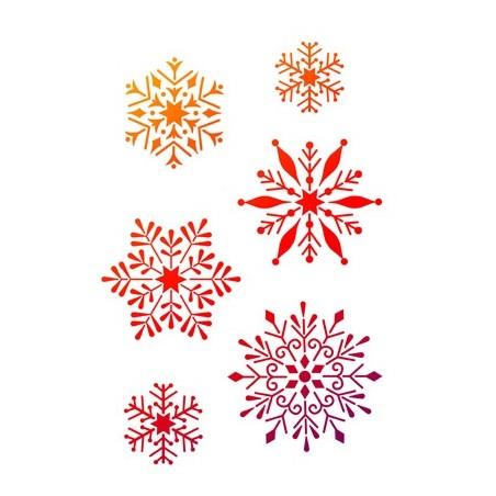 Pochoir A4 flocons de neige