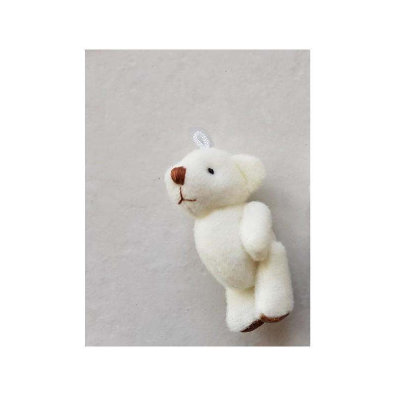 Petit ours ourson miniature peluche blanc