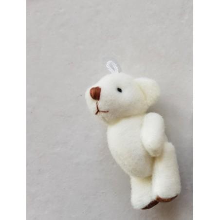 Petit ours  miniature peluche blanc