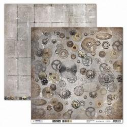 Papier Design 30,5 x 30,5 engrenages Industrial Vintage