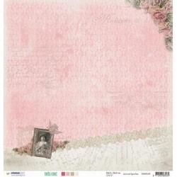 Papier Design 30,5 x 30,5 romantique lettre femme très chic studio light