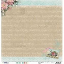 Papier Design 30,5 x 30,5 romantique hirondelle fleur très chic studio light