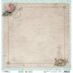 Papier Design 30,5 x 30,5 romantique costume femme  très chic studio light fleurs et bouquet de rose