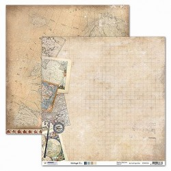 Papier Design vintage mappemonde et cartes 30,5 x 30,5 studio light