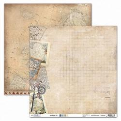 Papier Design vintage mappemonde et cartes 30,5 x 30,5 studio light