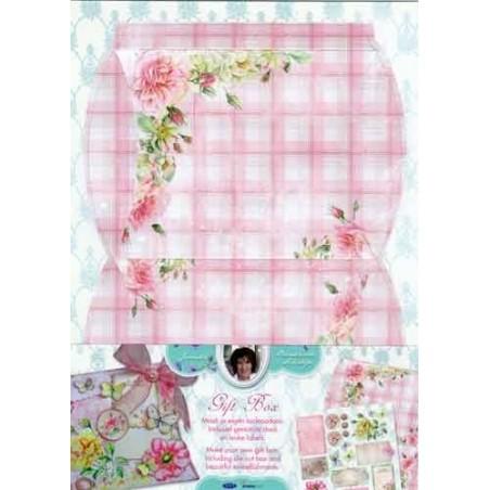 Boite cadeau à monter décor romantique rose délicat studio light