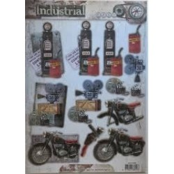 papier design industrial prédécoupé moto camera et autres studio light
