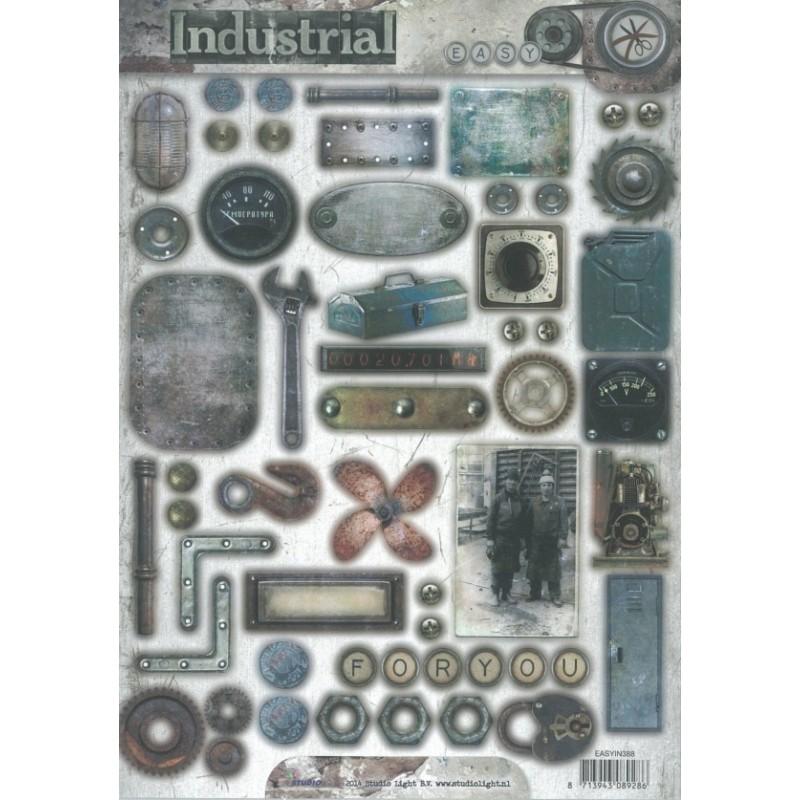 """papier design industrial prédécoupé m""""canique et outils studio light"""