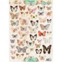 papier design shabby chic prédécoupé planche papillon studio light