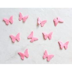10 papillons feutrine rose loisir créatif