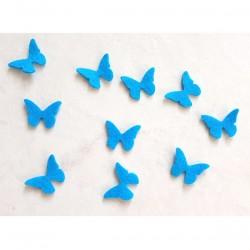 10 papillons feutrine turquoise loisir créatif