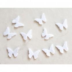 10 papillons feutrine gris loisir créatif
