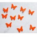 10 papillons feutrine orange loisir créatif