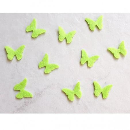 10 papillons feutrine vert amande loisir créatif