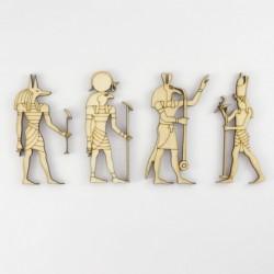 Pack de 4 dieux de la mythologie egyptienne