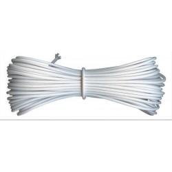 10 m de Fil élastique rond idéal confection masque facial blanc 2 mm