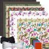 Kit complet  fabrication 10 masques barrière fleurs selon norme Afnor