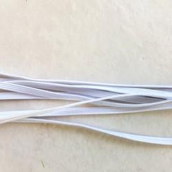 Elastique plat 3 mm blanc confection masque alternatif vendu au mètre