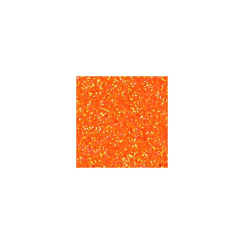 Mousse orange Halloween pailletée thermoformable Créa-Soft 2 mm 20 x 30 cm prix bas liquidation