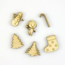 Pack de 4 petits objets de Noël