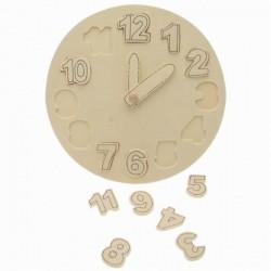 Horloge didactique en bois à décorer ou pas Idéal pour l'apprentissage de l'heure.