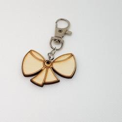 Porte-clef noeud en bois à décorer ou pas Pour adulte ou enfant, pour petit cadeau noël, anniversaire, fête d'école...