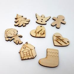 8 décors de Noël en bois...