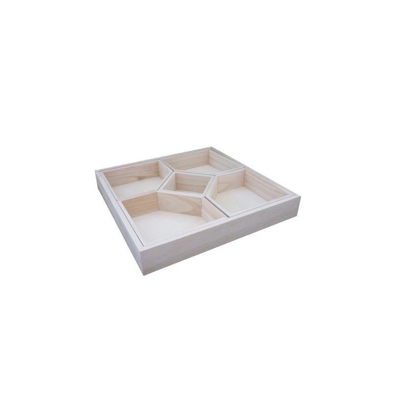 Plateau apéritif avec 5 compartiments