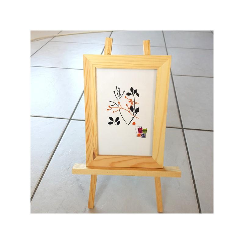 Chevalet et son cadre en bois pour déco loisirs créatifs décors de table