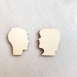2 profils visage homme et...