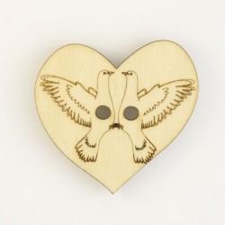 Coeur avec colombes pour dragees