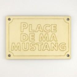 Panneau place de ma Mustang