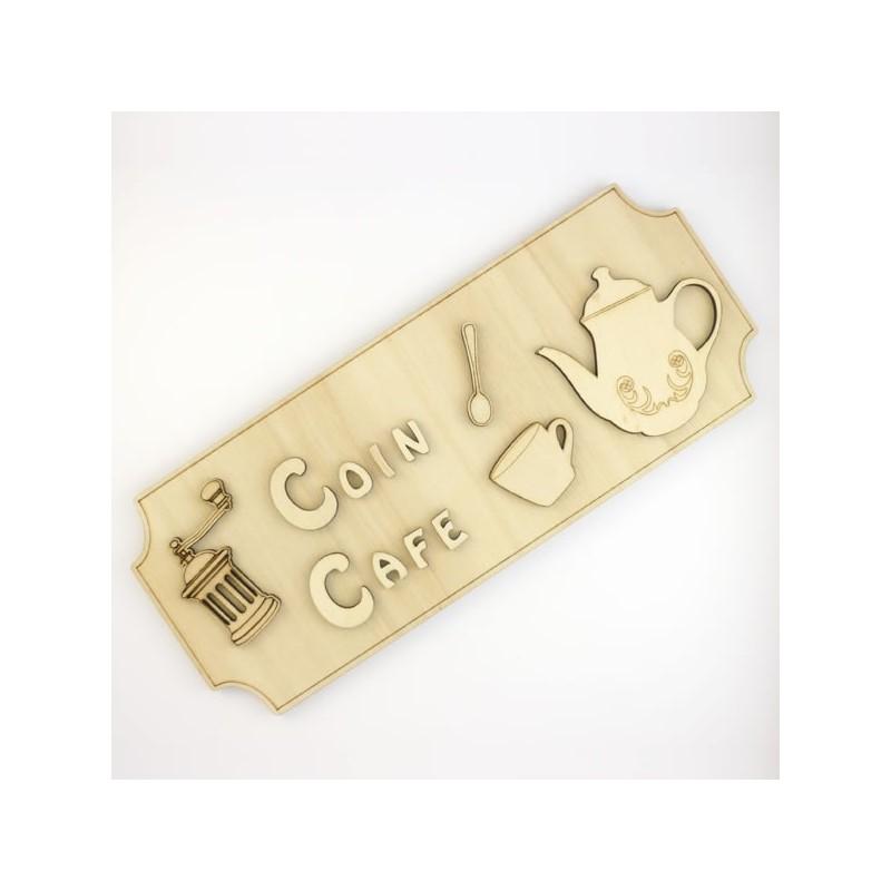 Panneau coin café