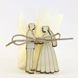 Mariés sans fond avec organza