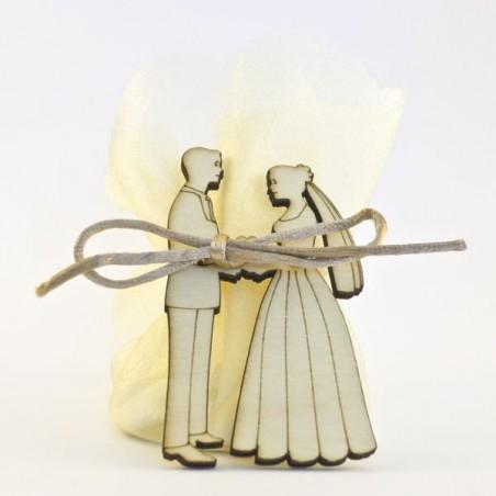 Mariés sans fond et organza