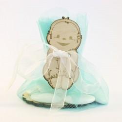 Bébé avec fond avec tulle