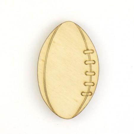 Ballon de rugby en bois