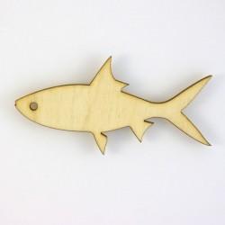 Poisson n°1, type sardine, en bois