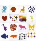 découpe feutrine, animaux, végétaux, chiffres, lettres, formes