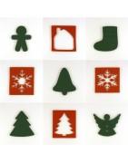 Sujets découpés en feutrine pour Noël