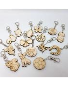 Porte-clefs  bois à décorer ou pas réalisés en France à notre atelier